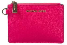 Michael Kors Grained Leather Zip Wristlet