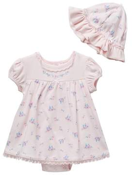 Little Me Posy Bodysuit & Hat Set (Baby Girls)