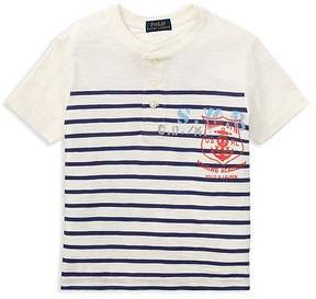 Polo Ralph Lauren Boys' Short-Sleeve Striped Henley Tee - Little Kid