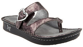 Alegria As Is Leather Thong Sandals with Strap Detail - Valentina