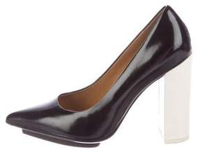 3.1 Phillip Lim Leather Pointed-Toe Pumps