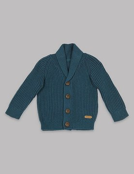 Marks and Spencer Cable Knit Shawl Collar Cardigan