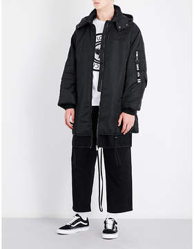 Boy London Eagle tape-print hooded shell jacket