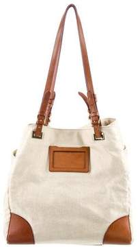 MZ Wallace Leather Trim Canvas Tote