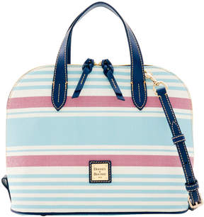Dooney & Bourke Westerly Zip Zip Satchel - SKY RED - STYLE