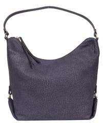 Borbonese Women's Blue Leather Shoulder Bag.