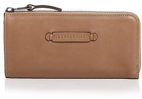 Longchamp 3D 3/4 Zip Leather Wallet - TAUPE - STYLE