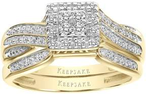 Keepsake Infinite 1/4 Carat T.W. Certified Diamond 10kt Yellow Gold Bridal Set