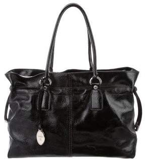Tod's Patent Leather Handle Bag