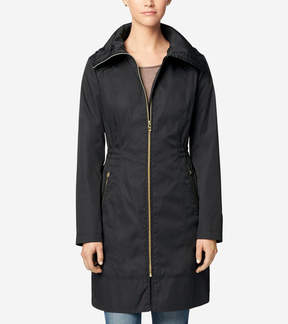 Cole Haan Single Breasted Packable Rain Jacket