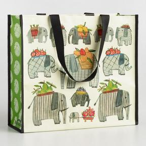 World Market Elephant and Paisley Wide Tote