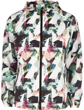 River Island Mens Blue abstract print hooded jacket