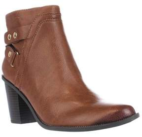 Bar III B35 Dove Block Heel Casual Ankle Booties, Banana Bread.