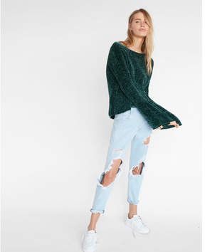 Express plush chenille flare sleeve sweater