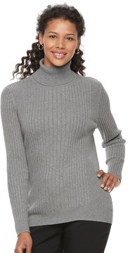 Croft & Barrow Women's Essential Ribbed Turtleneck Sweater