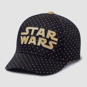 Star Wars Girls' Foil Dots Hat - Black