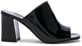 Maryam Nassir Zadeh Patent Leather Penelope Mules in Black.