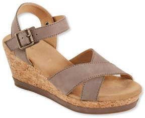 L.L. Bean L.L.Bean Women's Wedge Strap Sandals, Nubuck
