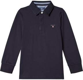 Gant Navy Heavy Rugby with Chambray Undercollar