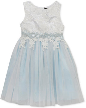 Rare Editions Lace Mesh Ballerina Dress, Little Girls (4-6X), Created for Macy's