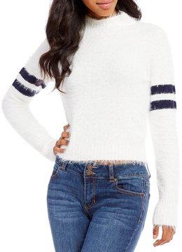 Copper Key Varsity Stripe Eyelash Cropped Sweater