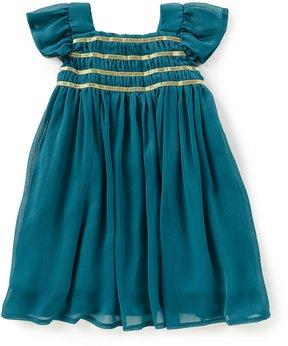 Edgehill Collection Little Girls 2T-6X Chiffon Flutter-Sleeve Dress