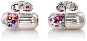 Jan Leslie Men's Pill-Capsule Cufflinks