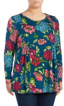 Context Plus Floral Knit Top