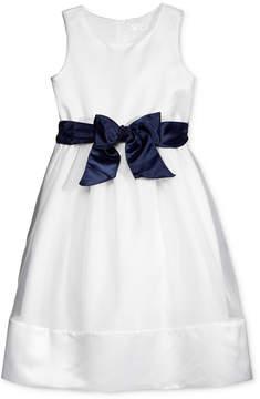 Us Angels Lavender by Contrast Sash Dress, Toddler Girls