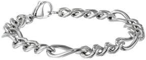 JCPenney FINE JEWELRY Mens Stainless Steel 9 11mm Figaro Bracelet