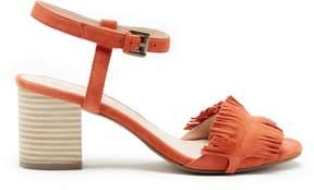 Sole Society Sepia Fringe Ankle Strap Sandal