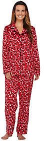 Carole Hochman Micro Fleece Notch Collar Novelty Pajama Set