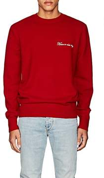 Rag & Bone Men's Victor Embroidered Lambswool-Blend Sweater