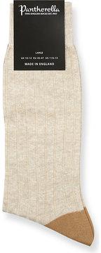 Pantherella Hamada ribbed linen-blend socks
