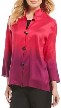 Caroline Rose Mandarin Collar Ombre Jacket