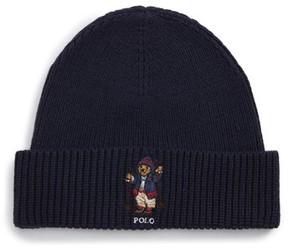 Polo Ralph Lauren Men's Apres Ski Bear Knit Cap - Blue