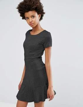 Dex Drop Hem Jacquard Dress