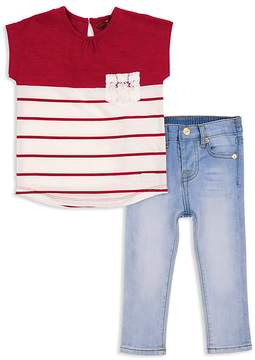 7 For All Mankind Girls' Color-Block Tee & Skinny Jeans Set - Little Kid