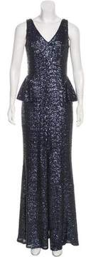 Carmen Marc Valvo Sequin Evening Dress
