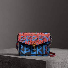 Burberry Small Graffiti Print Leather Crossbody Bag
