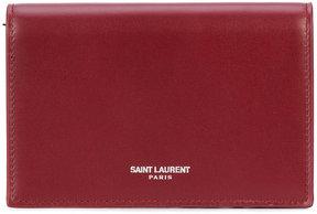Saint Laurent Fragments flap wallet - RED - STYLE