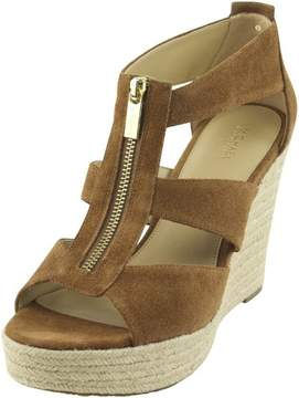 Michael Kors MICHAEL Womens DAMITA Leather Open Toe Casual Platform Sandals