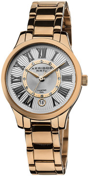 Akribos XXIV Akribos Diamond Rose Gold-tone Steel Ladies Watch