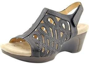 Romika Waikiki 19 Women Open-toe Leather Black Slingback Sandal.