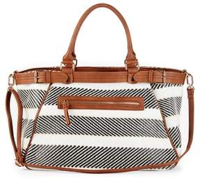 Sole Society Stripe Woven Weekend Bag