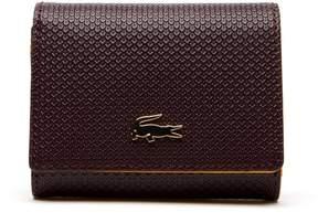 Lacoste Women's Chantaco Bicolor Pique Leather 3 Card Wallet