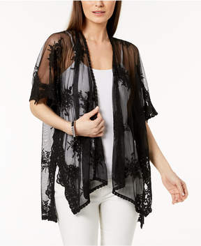 INC International Concepts I.n.c. Embroidered Mesh Cape & Cover-Up, Created for Macy's
