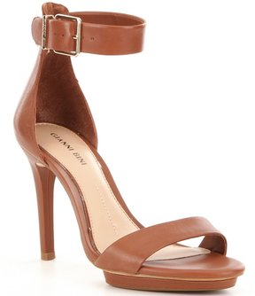 Gianni Bini Lizette Leather Ankle Strap Dress Sandals