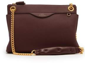 Anya Hindmarch Double Zip Leather Shoulder Bag - Womens - Burgundy