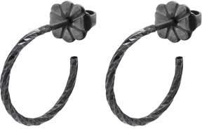 Myia Bonner Black Mini Diamond Hoop Earrings